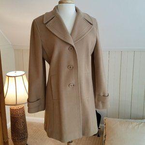 Marvin Richards Wool Camel Pea Coat